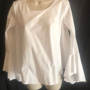 NWT Soprano white bell sleeve blouse